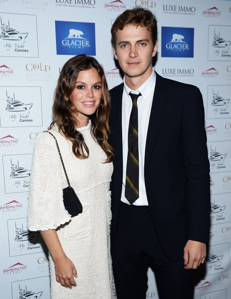 Rachel Bilson and Hayden Christensen coupled up in Cannes for the launch of Glacier Films on Sunday.