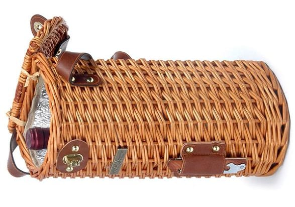 Basket-Inspired Wine Tote