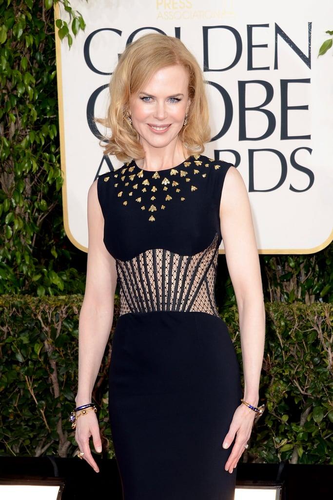 Sunday and Faith's mama, Nicole Kidman, looked sleek in an Alexander McQueen gown.