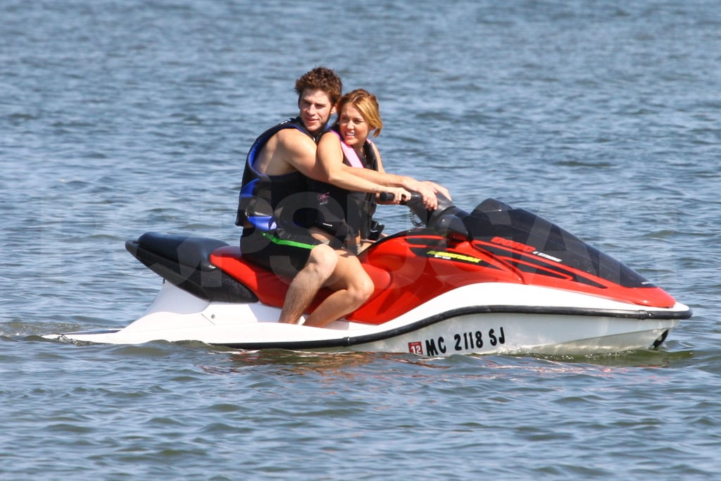 Miley Cyrus and Liam Hemsworth in Michigan.