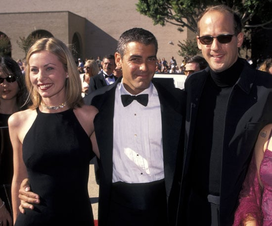 George Clooney had his ER costar Anthony Edwards and girlfriend Celine Balitran by his side on the red carpet in 1996.