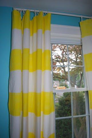 Cool Idea: Fabric-Painted Curtain Panels