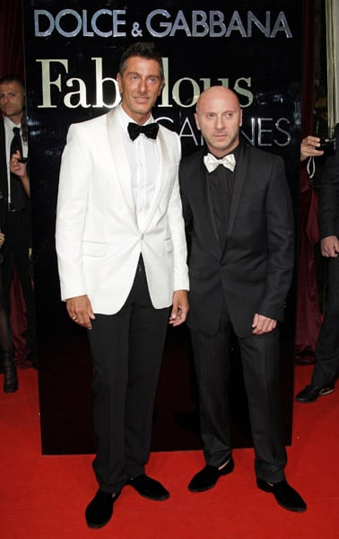 """May 22: Stefano Gabbana and Domenico Dolce at their """"Fabulous in Cannes"""" bash at Le Baoli"""
