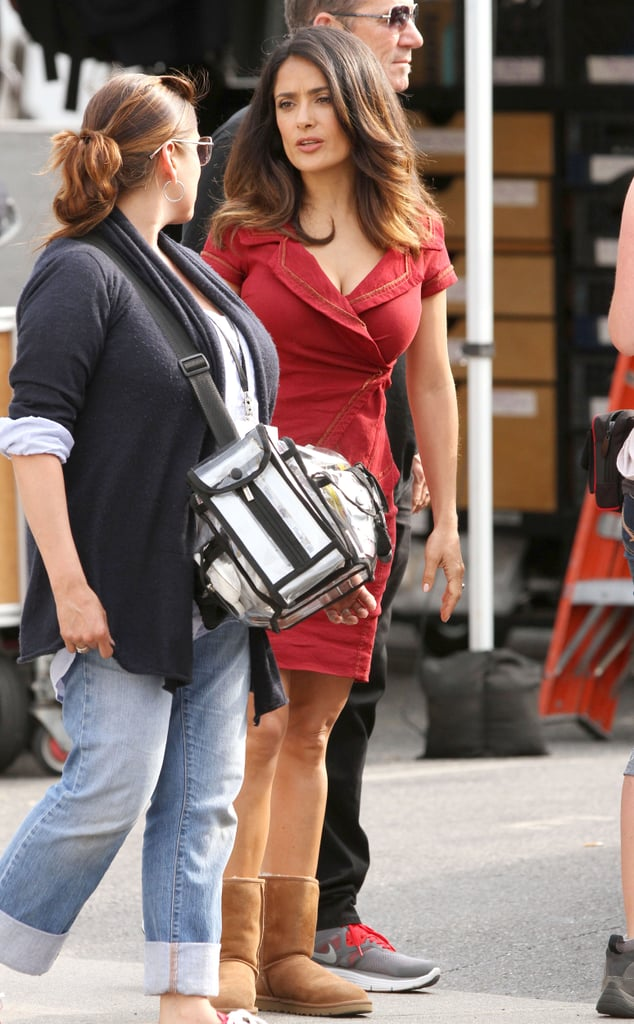 Salma Hayek chatted with the crew.