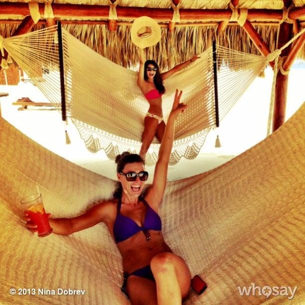 Nina Dobrev squeezed in much-needed hammock time. Source: Nina Dobrev on WhoSay
