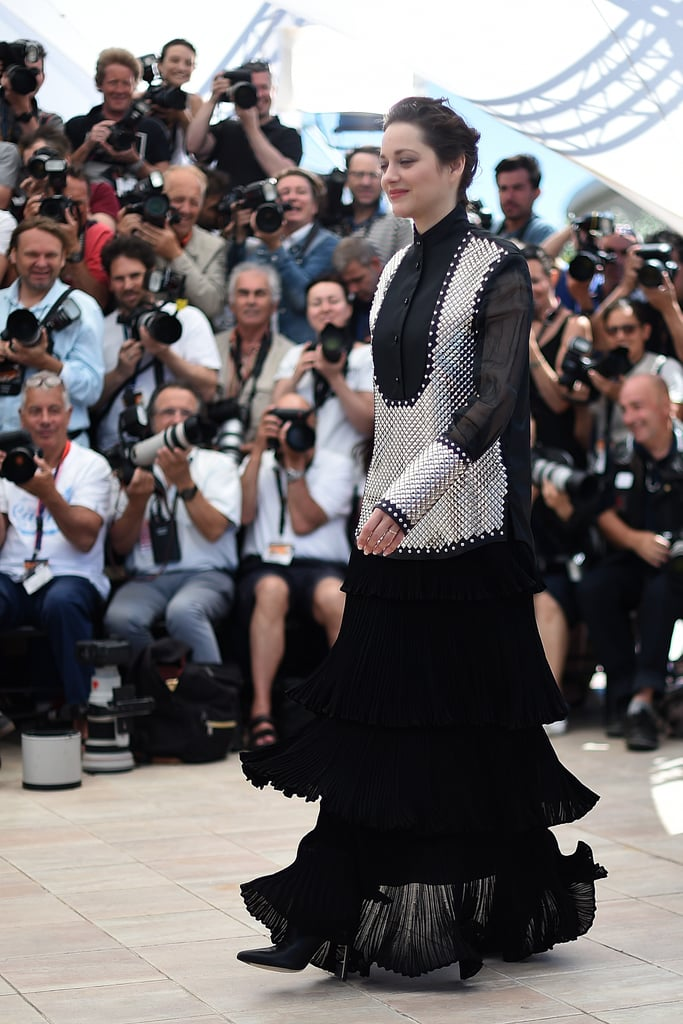 Marion Cotillard Shook Out the Tiers of Her Long Skirt