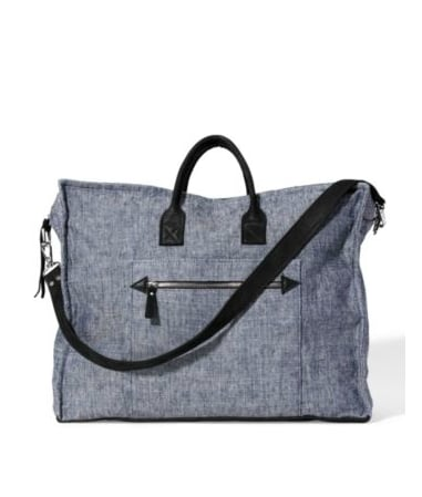 When we start with a bag this cool, we're all the more inspired to pack efficiently and stylishly.  Theory Denim Weekend Bag ($325)