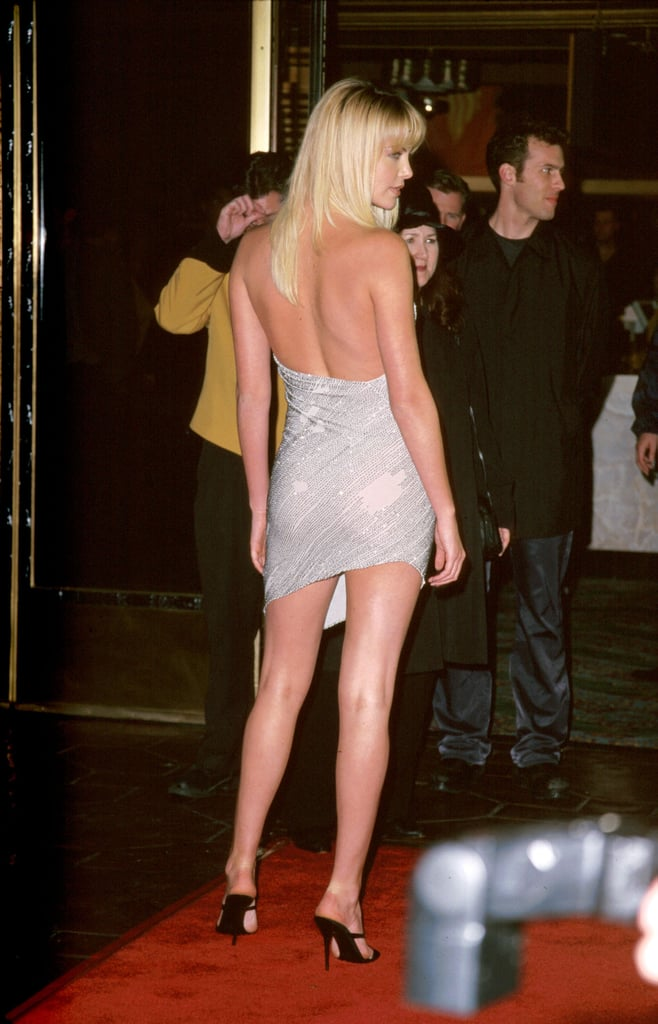 Charlize Theron bared her back and legs at the LA premiere of Reindeer Games in February 2000.