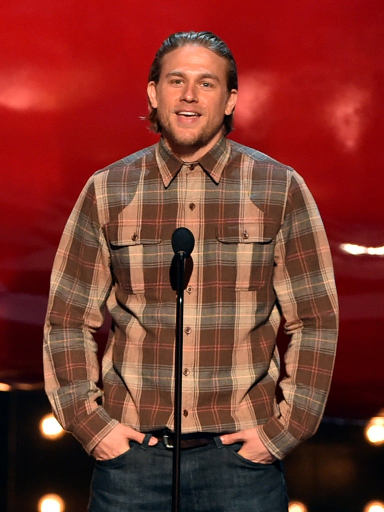 Charlie Hunnam sported flannel.