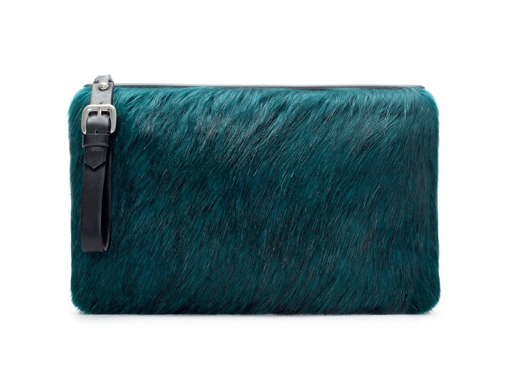 Zara Furry Clutch Bag ($36)
