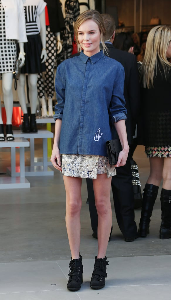 Kate Bosworth at the Topshop grand opening in Los Angeles.