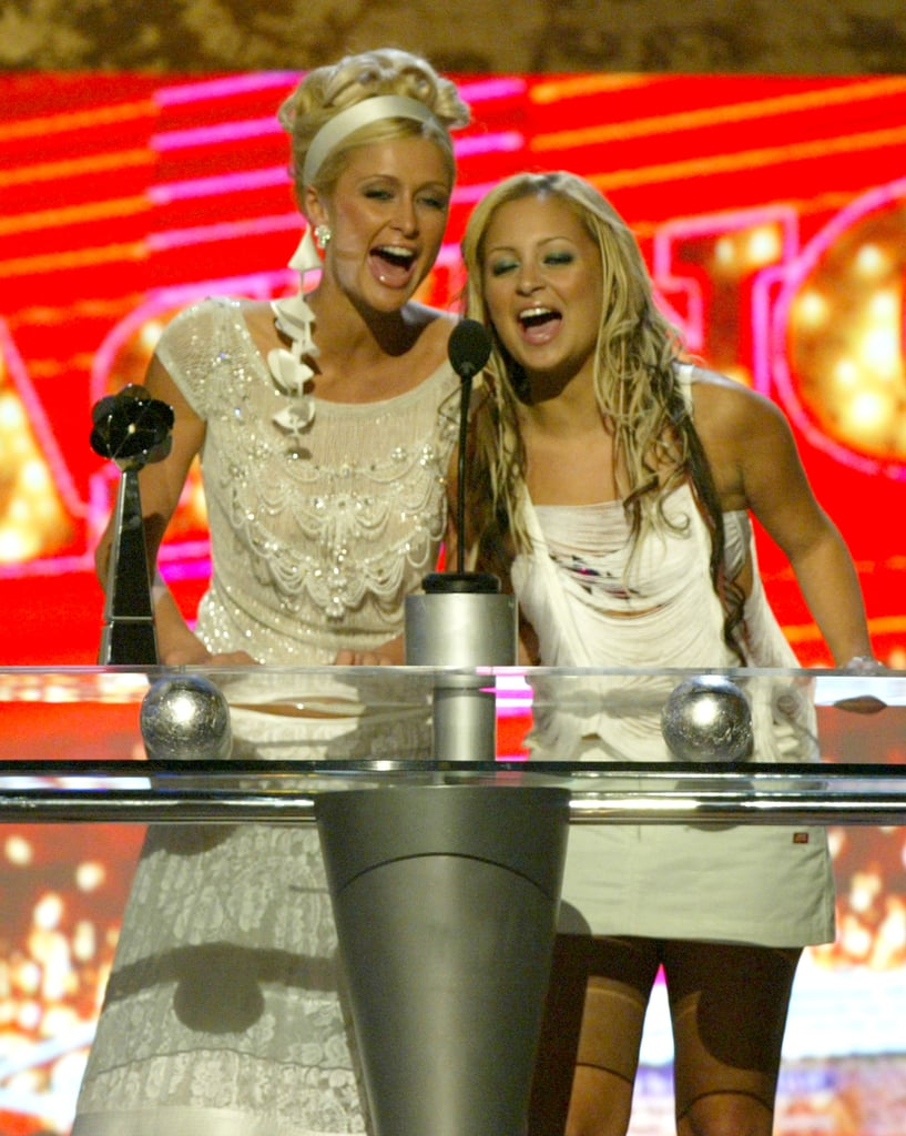 In December 2003, Nicole Richie and Paris Hilton took the stage.