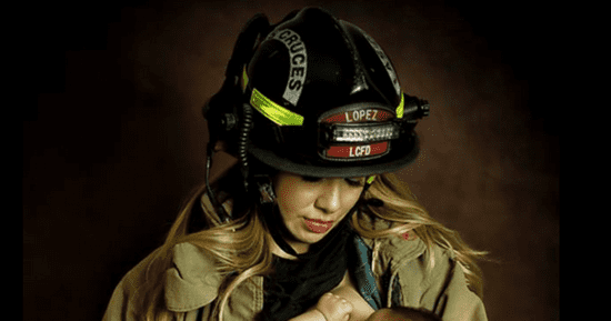 Photographer Is Celebrating Breastfeeding Women In Uniform, One Mom At A Time