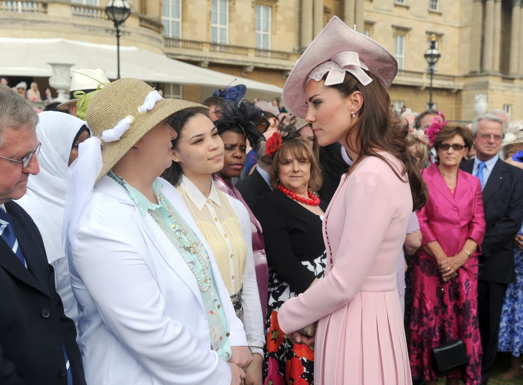 Kate Middleton chatted with others who attended the garden party.