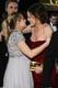 Pregnant Kristen Bell hugged Jennifer Garner inside the Golden Globes.