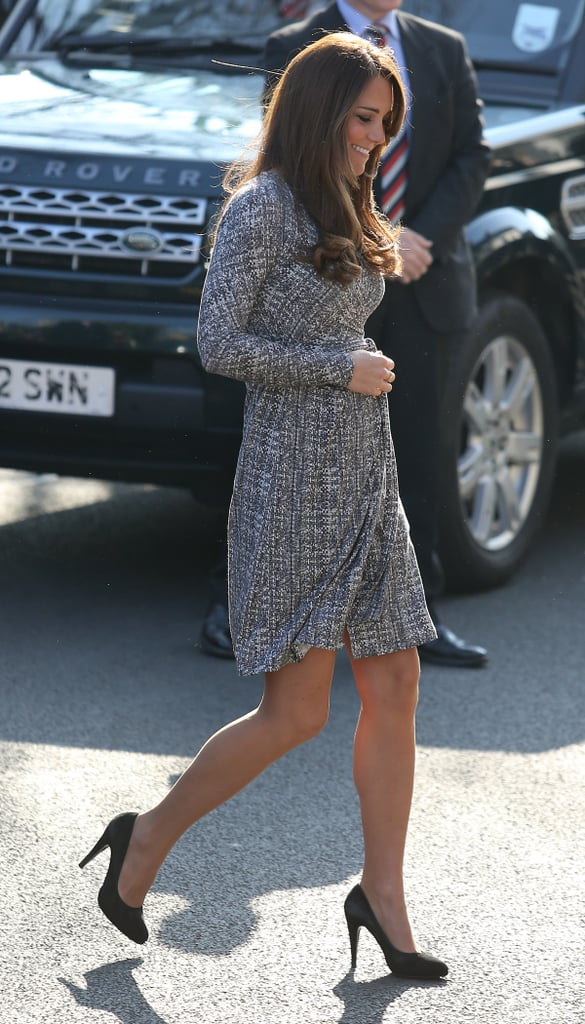 Kate Middleton made her first public appearance after her babymoon.
