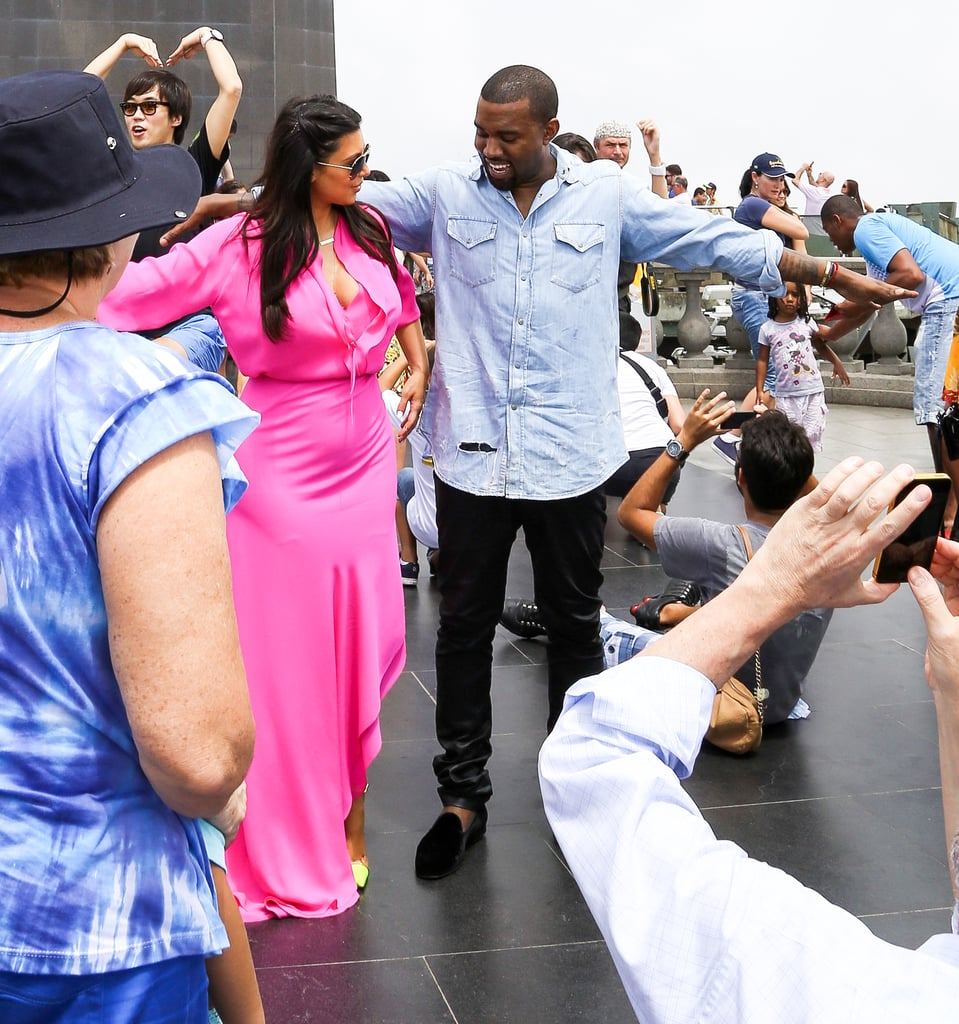 Kim and Kanye Tour Rio With a Stop by the Iconic Redeemer Statue