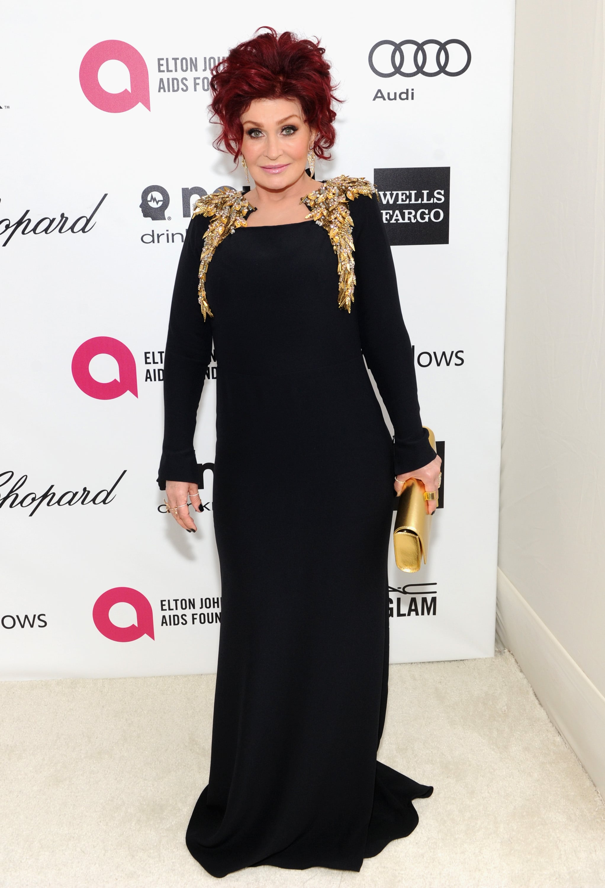 Sharon Osbourne wore a floor-length gown to the bash.