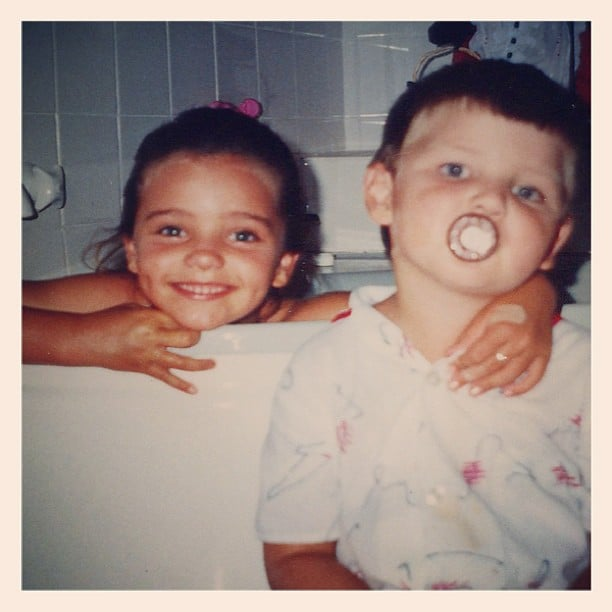 Miranda Kerr shared a photo of herself with her younger brother, Matthew, from when they were kids. Source: Instagram user mirandakerrverified
