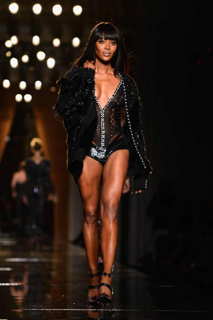 Naomi Campbell hit the catwalk for Versace's Paris Haute Couture show on Sunday.