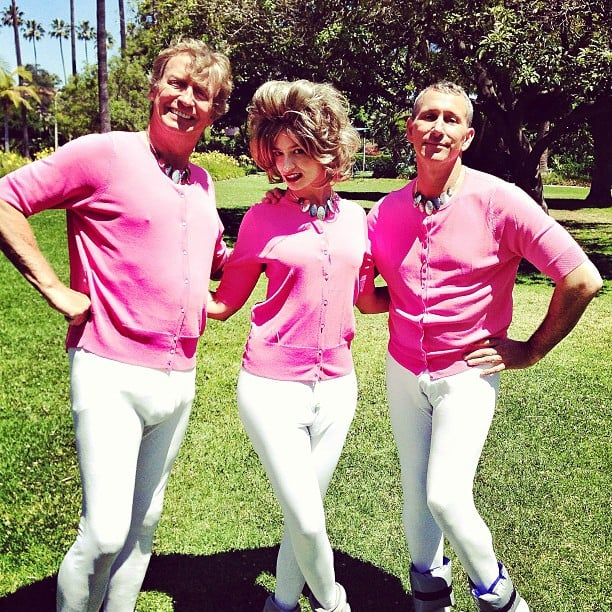 So You Think You Can Dance judges Nigel Lythgoe and Adam Shankman were dressed to the nines while filming a Prancercise video for Funny or Die. Source: Instagram user adamshankman