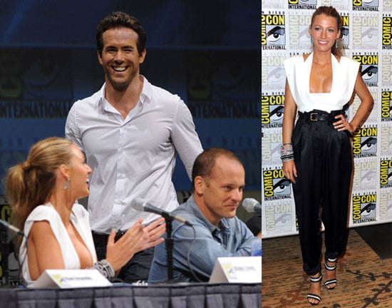 Blake Lively and Ryan Reynolds Promoting Green Lantern at Comic-Con