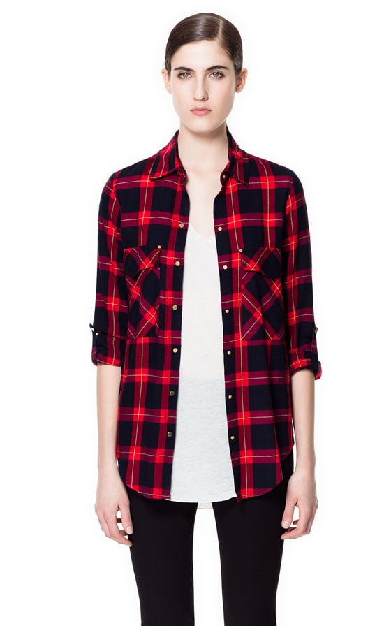 Perfect your homage to grunge with Zara's Checked Shirt ($60) tied around your waist.