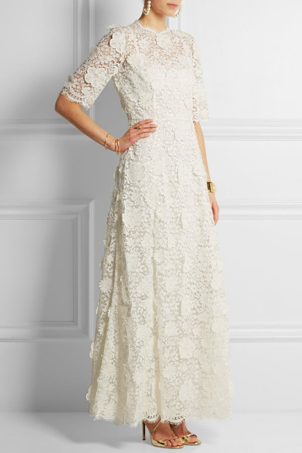 Dolce gabbana lace guipure gown 13 000 the ultimate for Dolce gabbana wedding dress