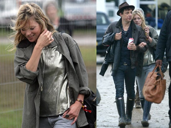 Photos of Kate Moss, Jamie Hince and Lily Allen at the 2008 Glastonbury Festival