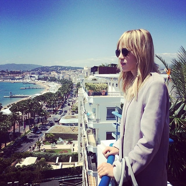 Suki Waterhouse checked out the Cannes view. Source: Instagram user saraellaozbek