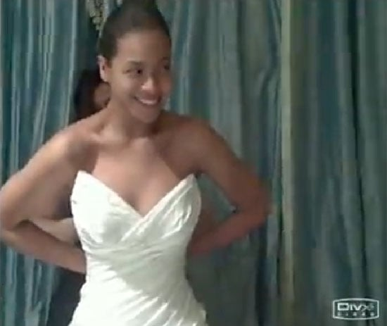 """Beyoncé Knowles shared a photo of her wedding dress for her April 2008 wedding to Jay Z in her 2011 """"I Was Here"""" video."""