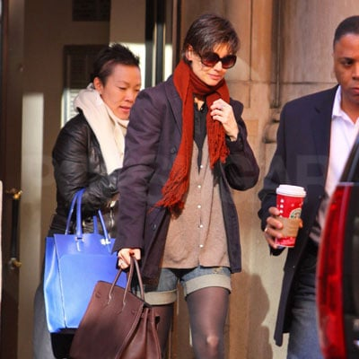 Katie Holmes Wears Shorts During Winter in NYC