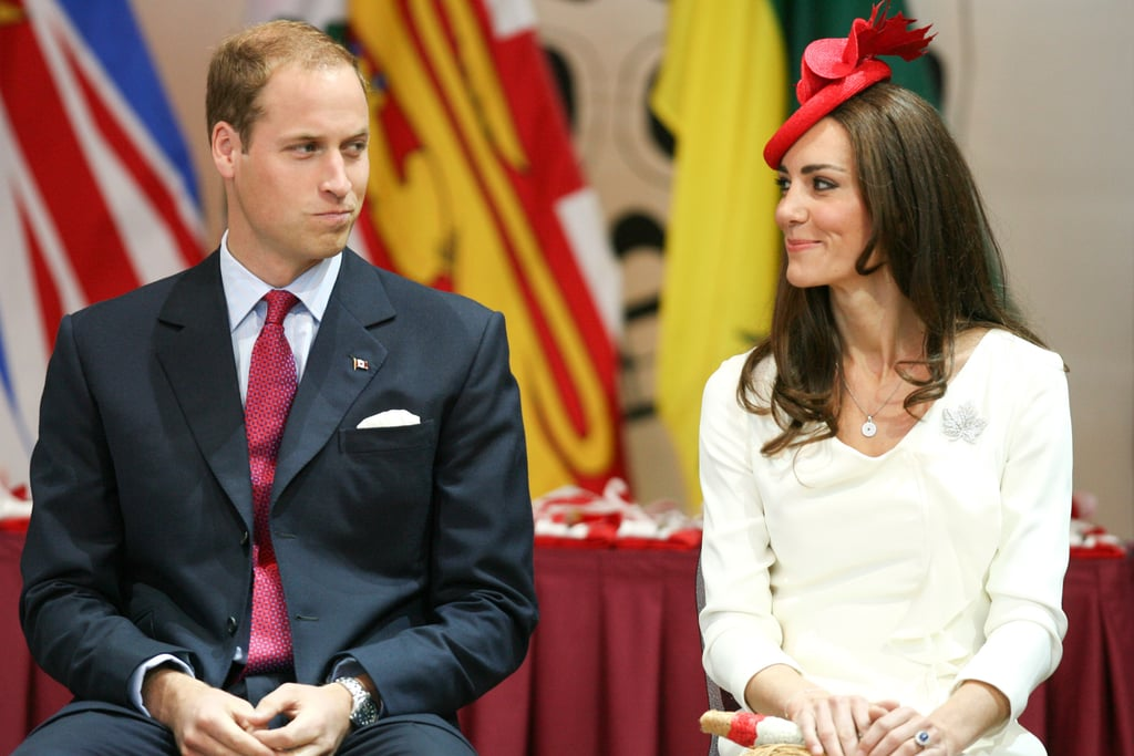 William and Kate exchanged a playful knowing glance as they celebrated Canada Day during their North American royal visit in 2011.