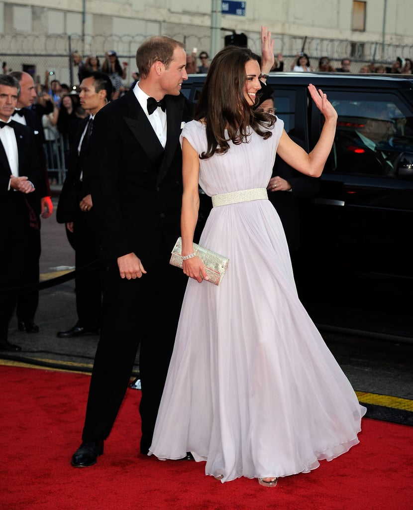 Prince William and Kate Middleton at BAFTA event during their LA trip.