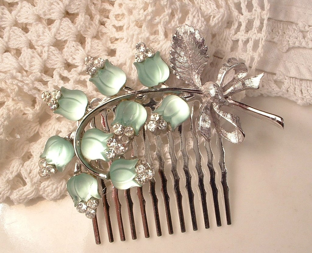 A stunning vintage hair comb ($94) can add the perfect touch of glamour to your bridal updo.