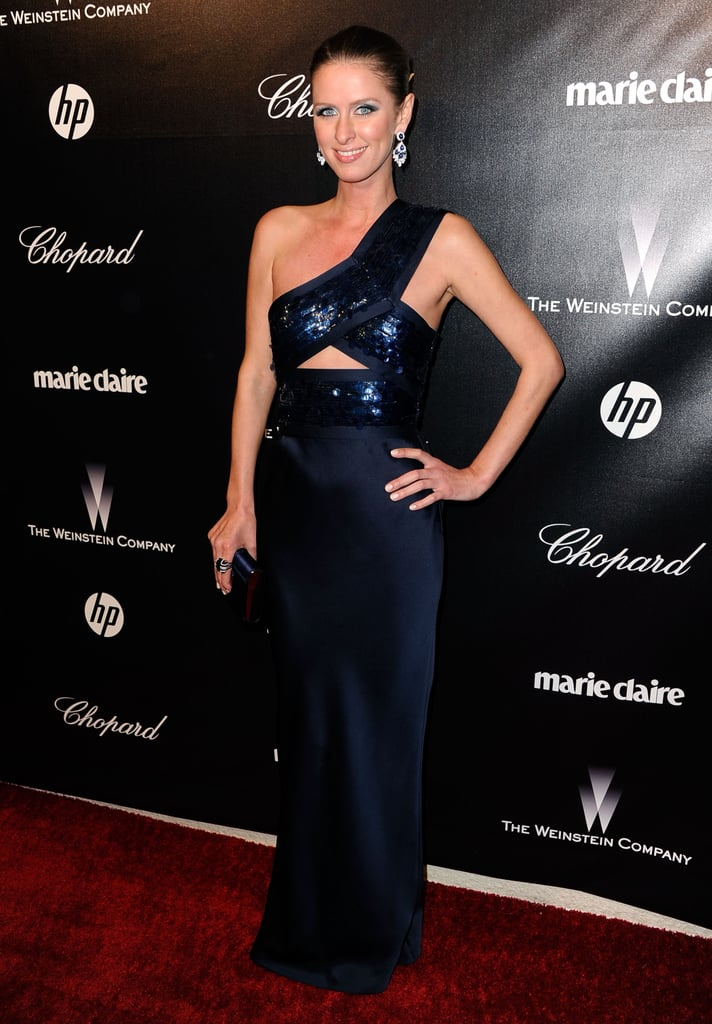Nicky Hilton came out for a Golden Globe Awards after party.