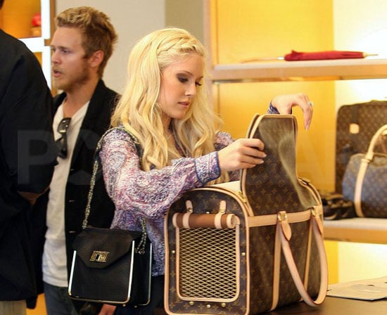 Slide Photo of Heidi Montag and Spencer Pratt at Louis Vuitton