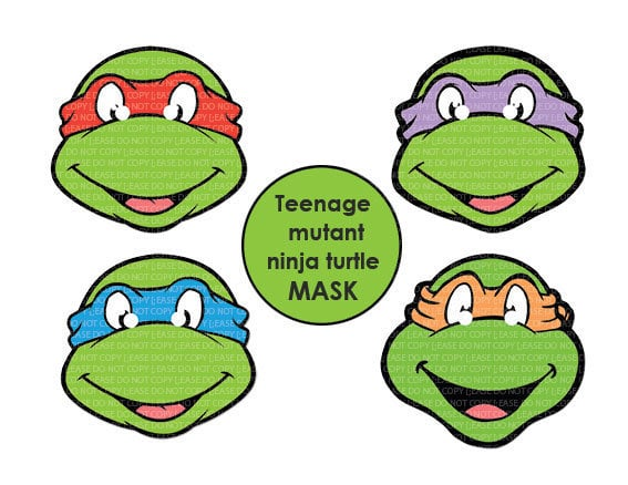 Who wouldn't want the Teenage Mutant Ninja Turtles at their wedding? These printable masks ($4) make your childhood dreams come true.