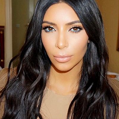 Kim Kardashian's Turquoise Eyeliner