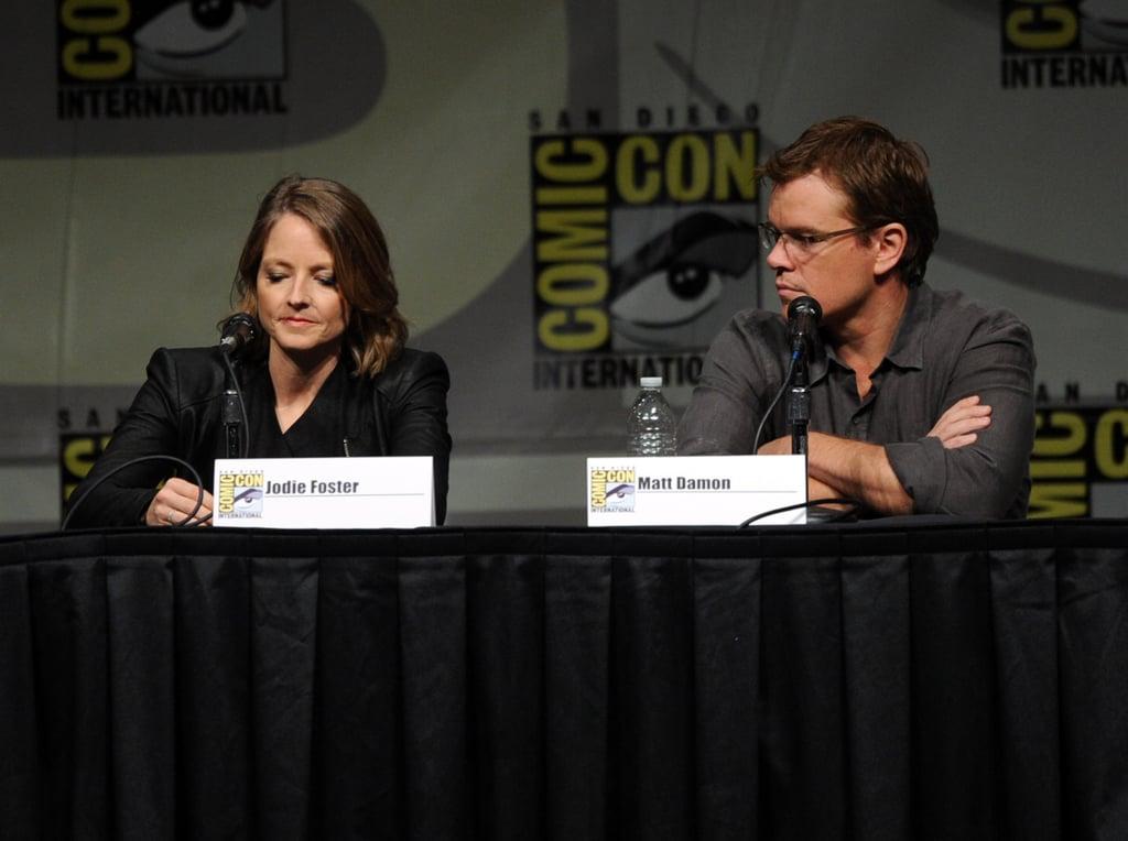 Matt Damon talked with Jodie Foster.