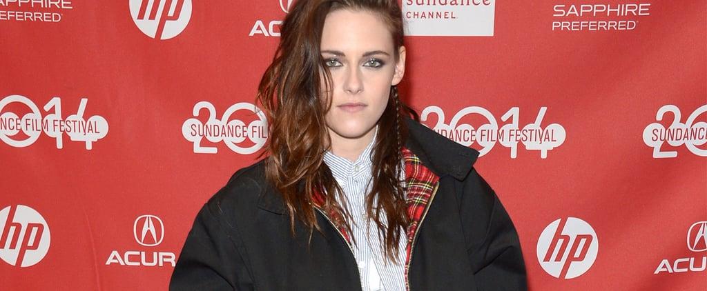 Kristen Stewart Shows Us How to Wear Plaid in the Winter!