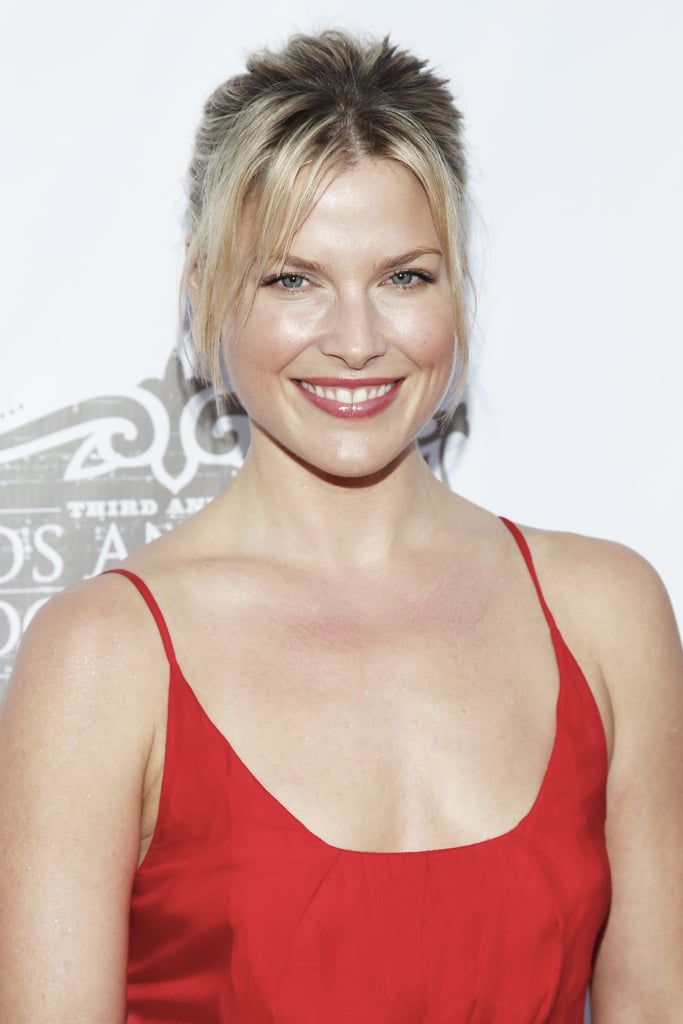 Out at the Los Angeles Food & Wine Festival, Ali Larter donned a red dress, which she wore with a minimal makeup look and a mid-ponytail with bangs to frame her face.
