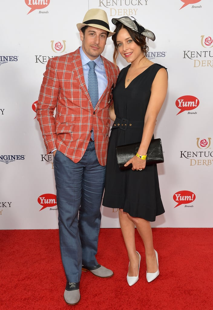 Jason Biggs and his wife, Jenny Mollen, got dressed up for the Derby on Saturday.