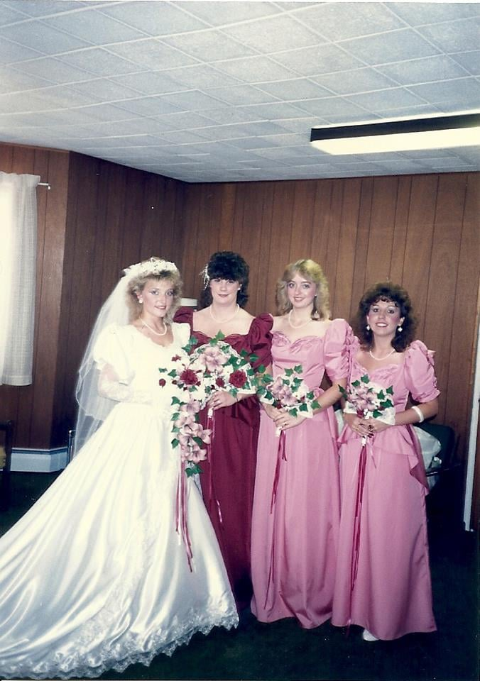 Then: Traditional Bridesmaid Dresses