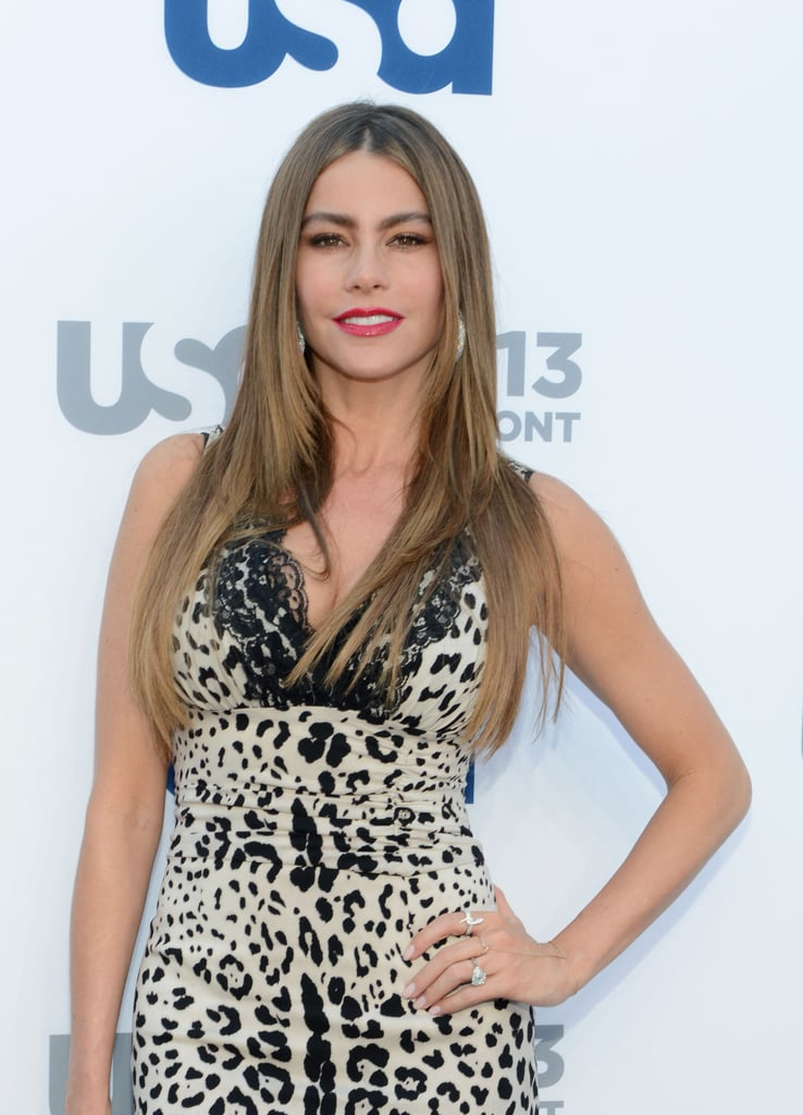 Sofia Vergara worked her stuff for the cameras.