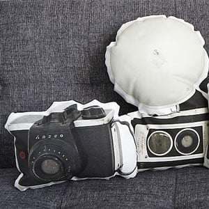 Vintage Camera Couch Pillows