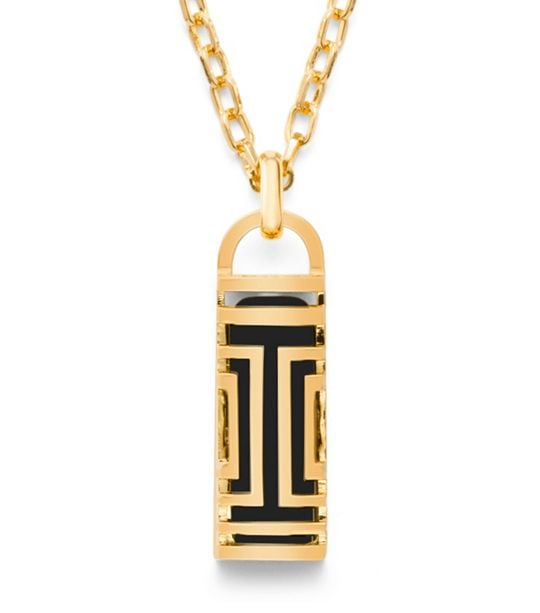 Tory Burch For Fitbit Fret Pendant Necklace in Gold ($175)