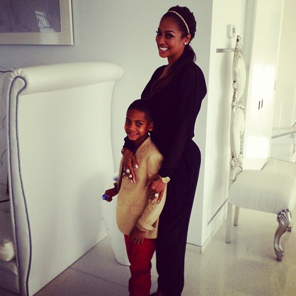 La La Anthony posed for a sweet snap with her son, Kiyan. Source: Instagram user LaLa