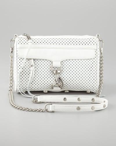 Rebecca Minkoff M.A.C. Perforated Clutch Crossbody Bag, White