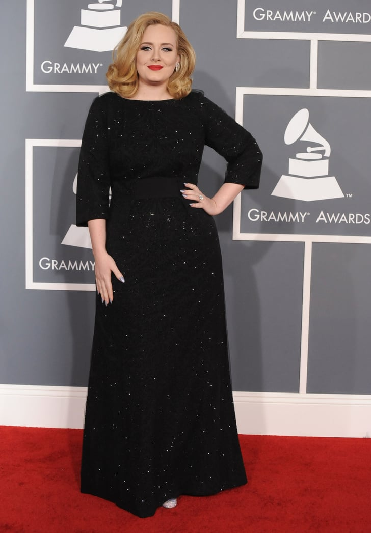 Adele at the Grammys.